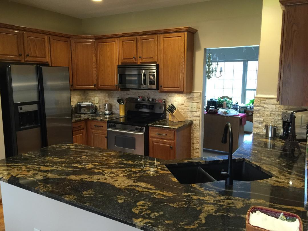 Completed Kitchen Countertops The Granite Guy Worthington Columbus Oh