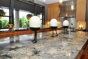 granite countertops in a big kitchen