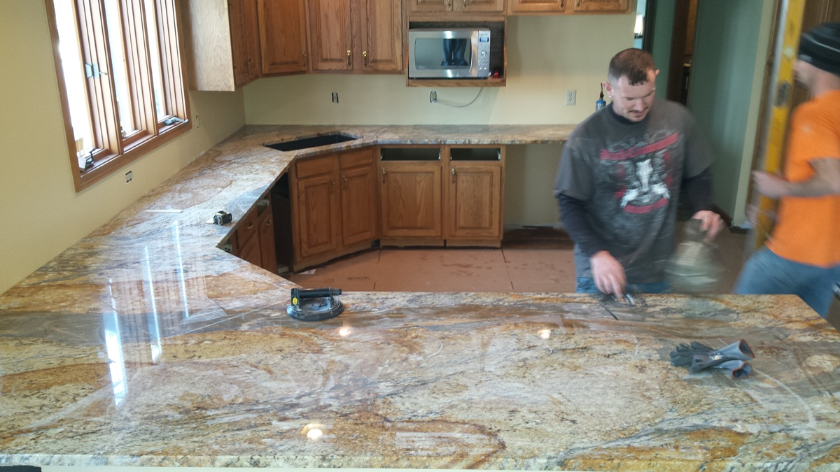 Great 20150127_brand_new_granite_countertop_install.  20150126_new_granite_countertop. Granite Countertop Ready To Be Installed