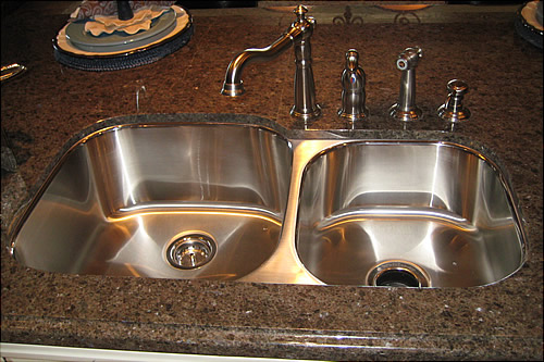 kitchen sinks with granite countertops the water test if you need to seal your granite 8601