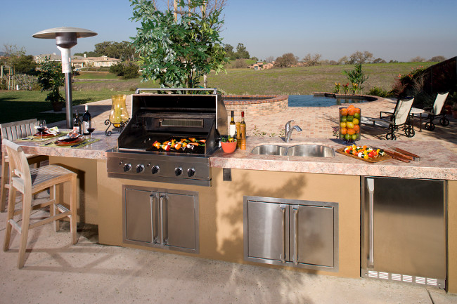 The Best Countertops for an Outdoor Kitchen