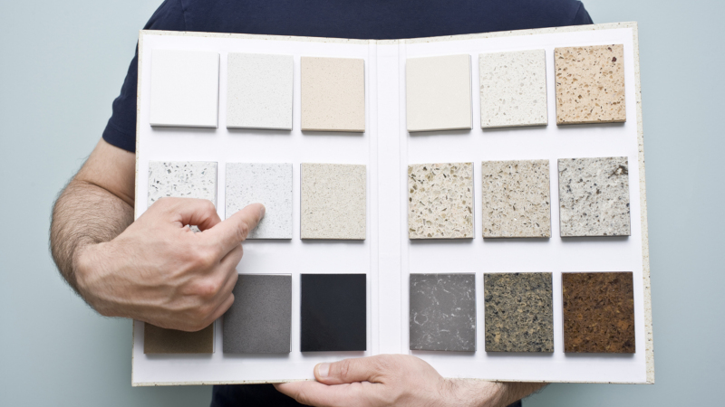 Quartz countertops come in a huge variety of colors