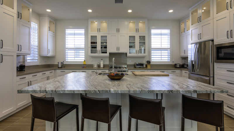 Exotic granite is a great way to have a little design fun with your home