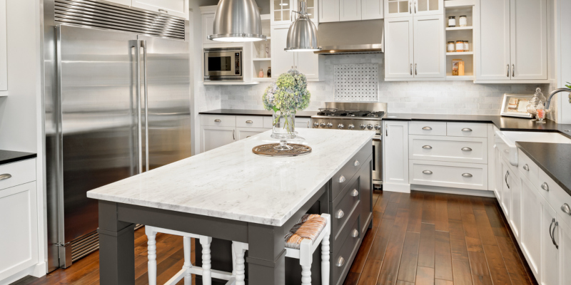 New kitchen counters are a great way to update your kitchen and to add style
