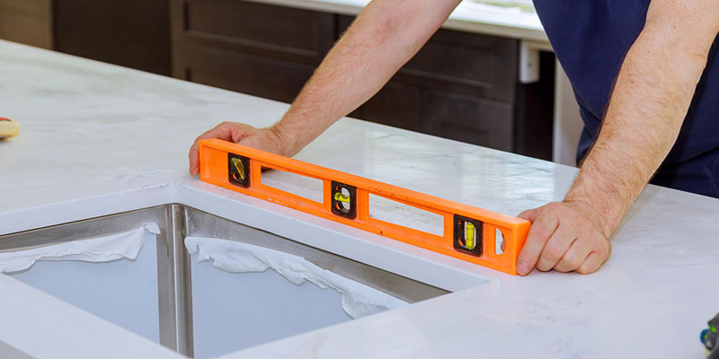 ensure that your new granite countertops are level, secure, and properly sealed